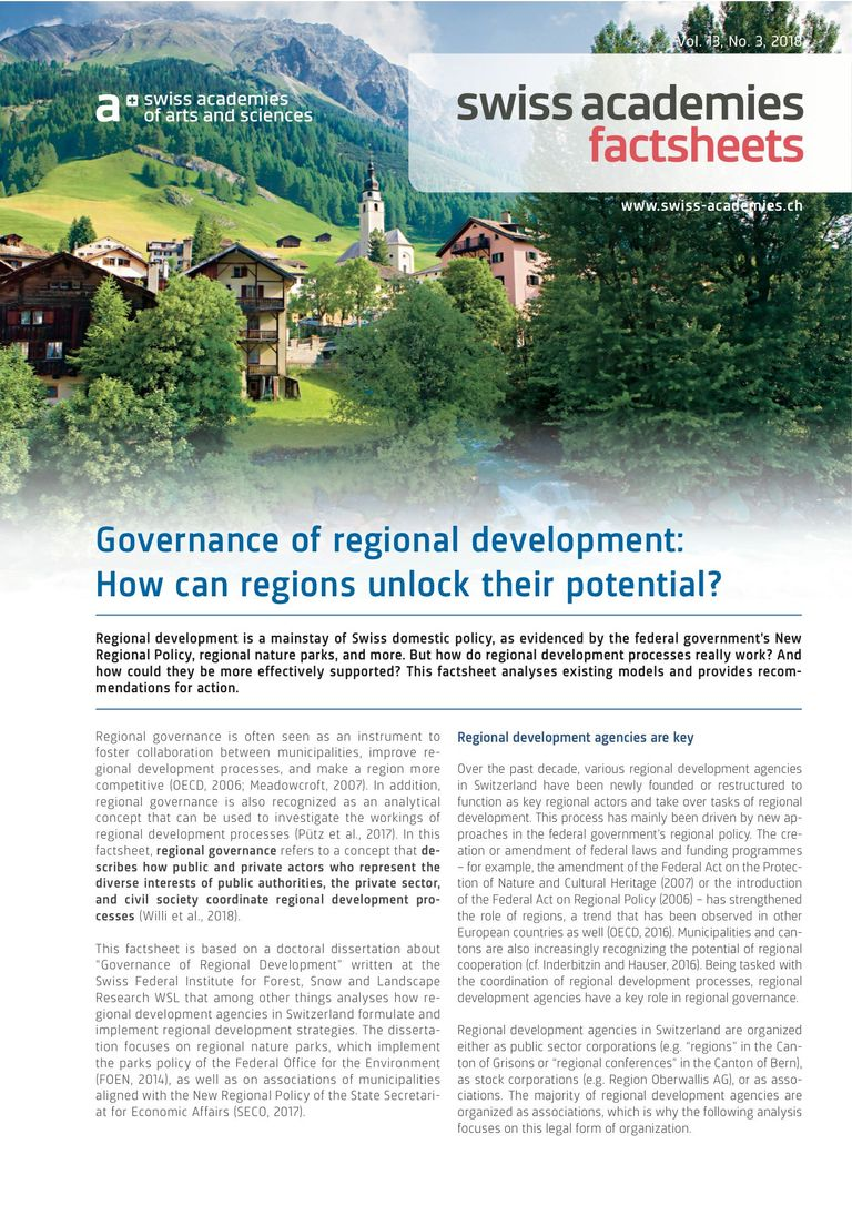 Factsheet Governance of regional development