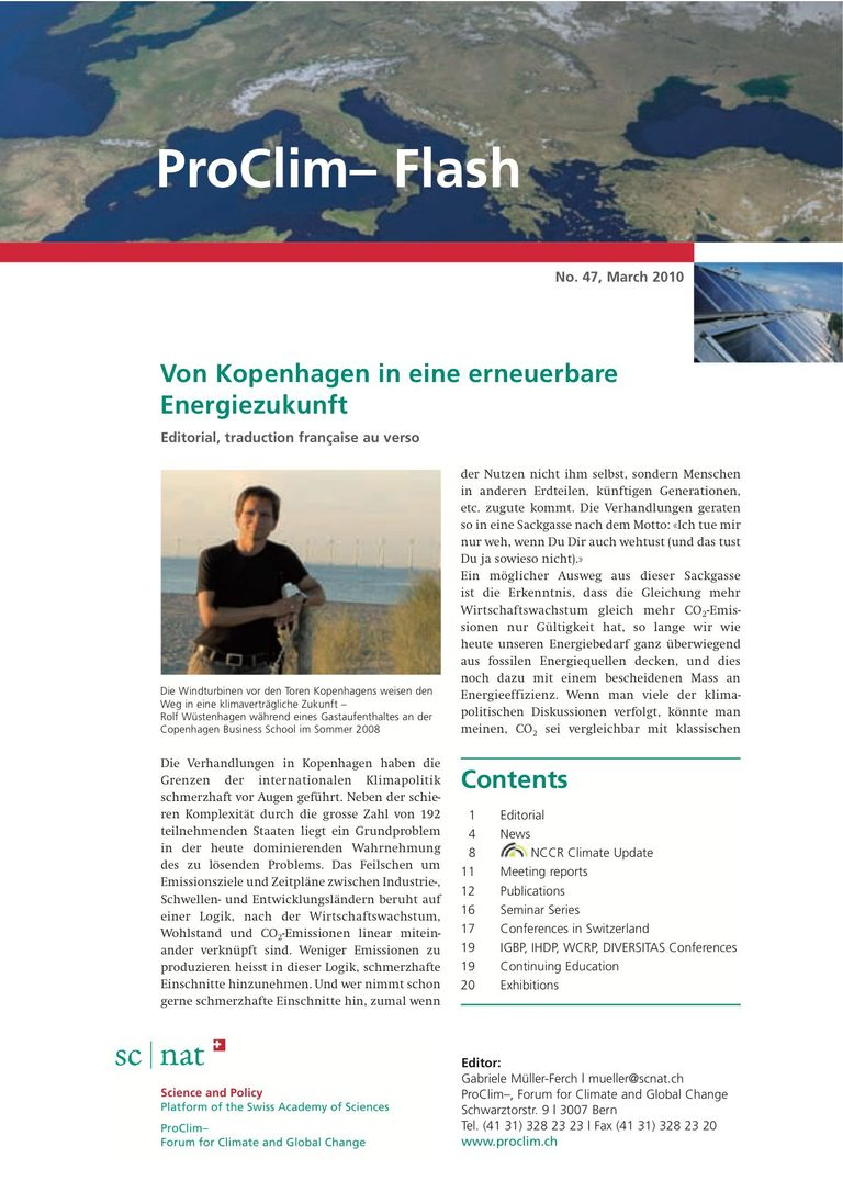 entire publication: ProClim- Flash 47 / Edito Rolf Wüstenhagen