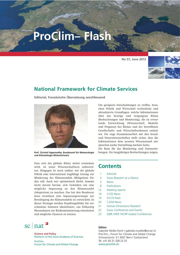 entire publication: ProClim- Flash 57 / Edito Christof Appenzeller