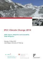Teaser: Forum IPCC: Fifth Assessment Reports AR5 on Impact, Adaptation, Vulnerability and Mitigation (WGII , WGIII)