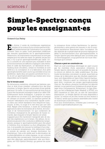 simple-spectro – l'Educateur 09/2019