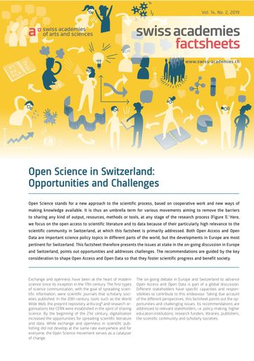 Open Science in Switzerland: Opportunities and Challenges
