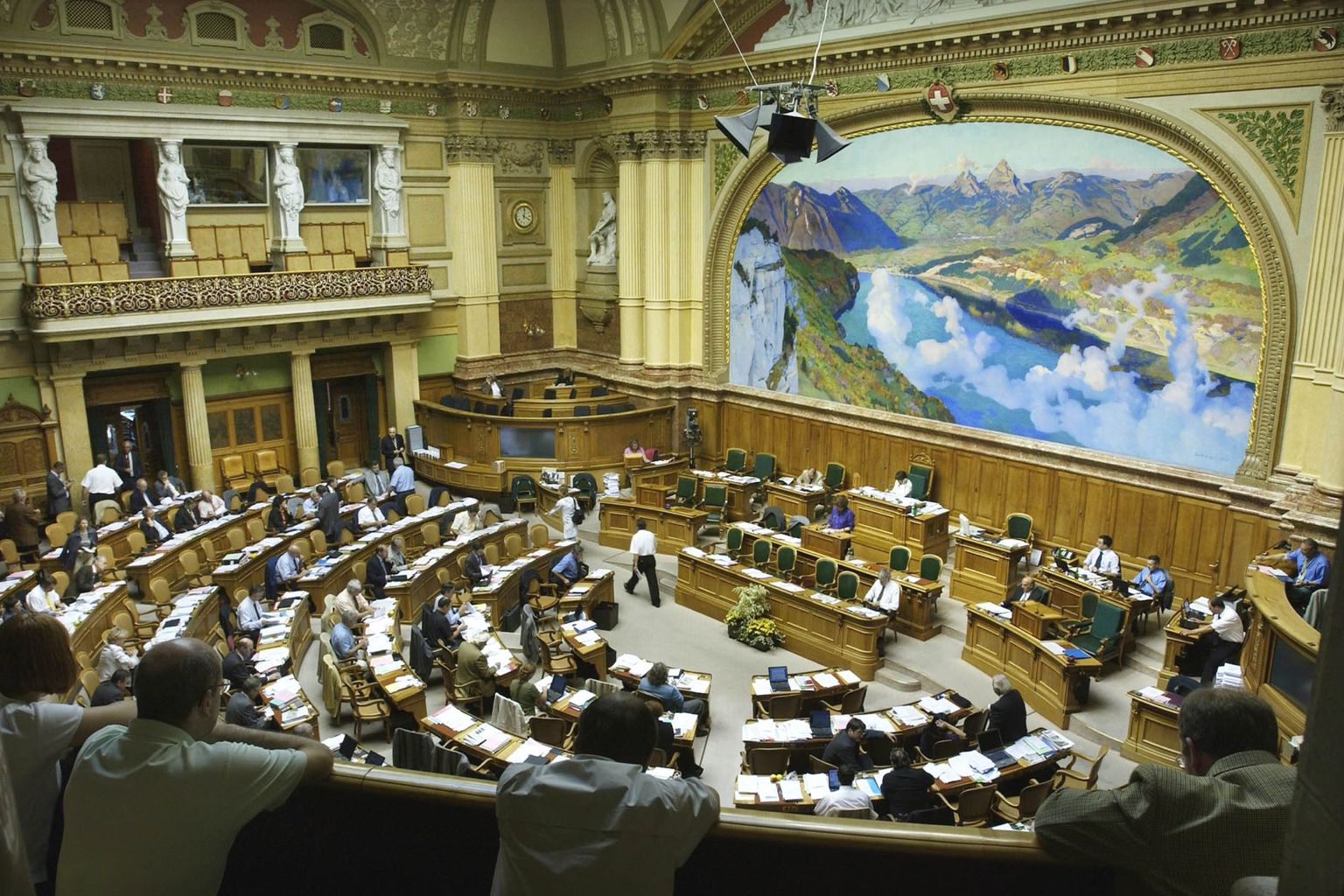 View of the Federal Council Chamber in the Parliamentary Building