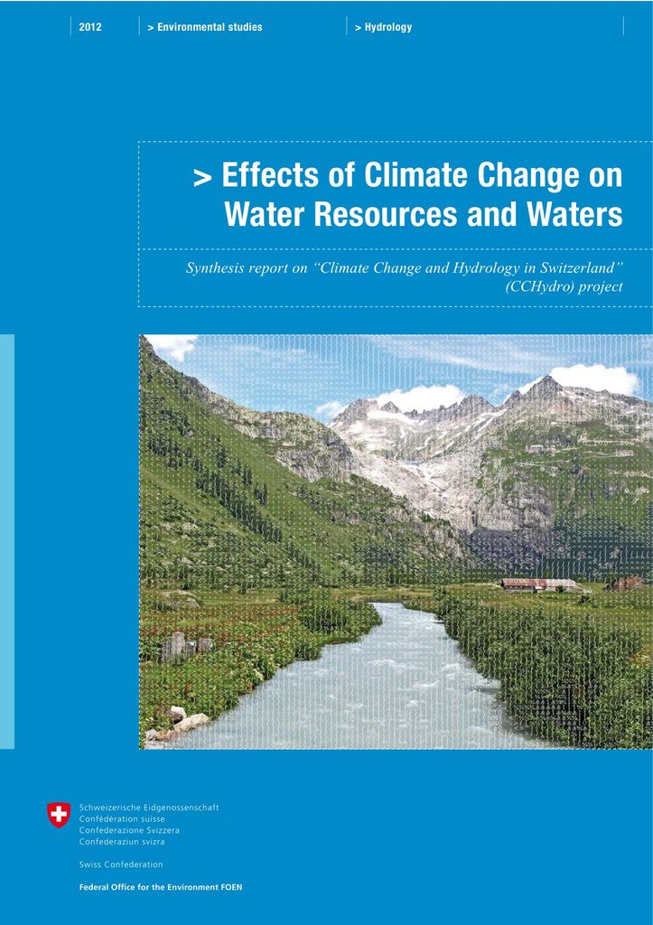 Effects of climate change on water resources and watercourses