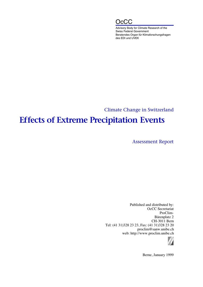 Effects of Extreme Precipitation Events