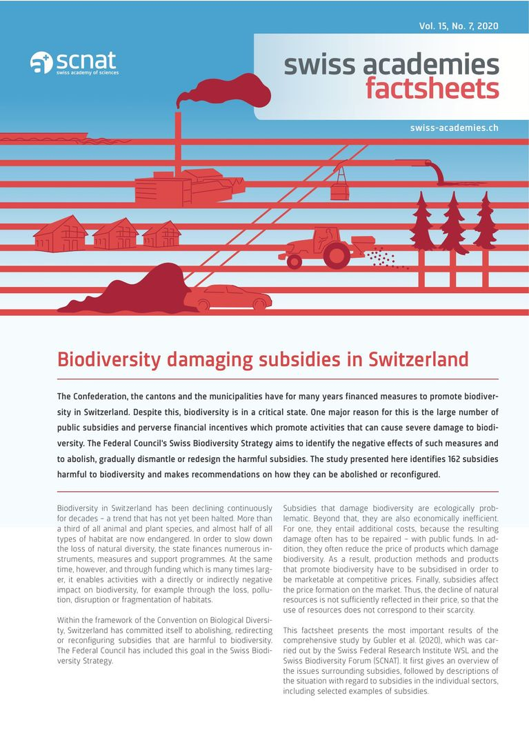 Biodiversity damaging subsidies in Switzerland
