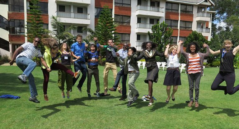International participants of summer school in Nanyuki, Kenya, take a break. Photo: Lilian J. Trechsel