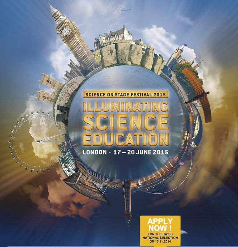 Flyer Science on Stage Switzerland 2014
