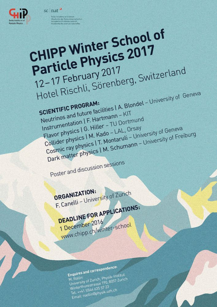 CHIPP Winter School of Particle Physics 2017: banner