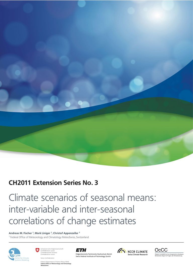 CH2011 Extension No. 3:  Climate scenarios of seasonal means: inter-variable and inter-seasonal correlations of change estimates