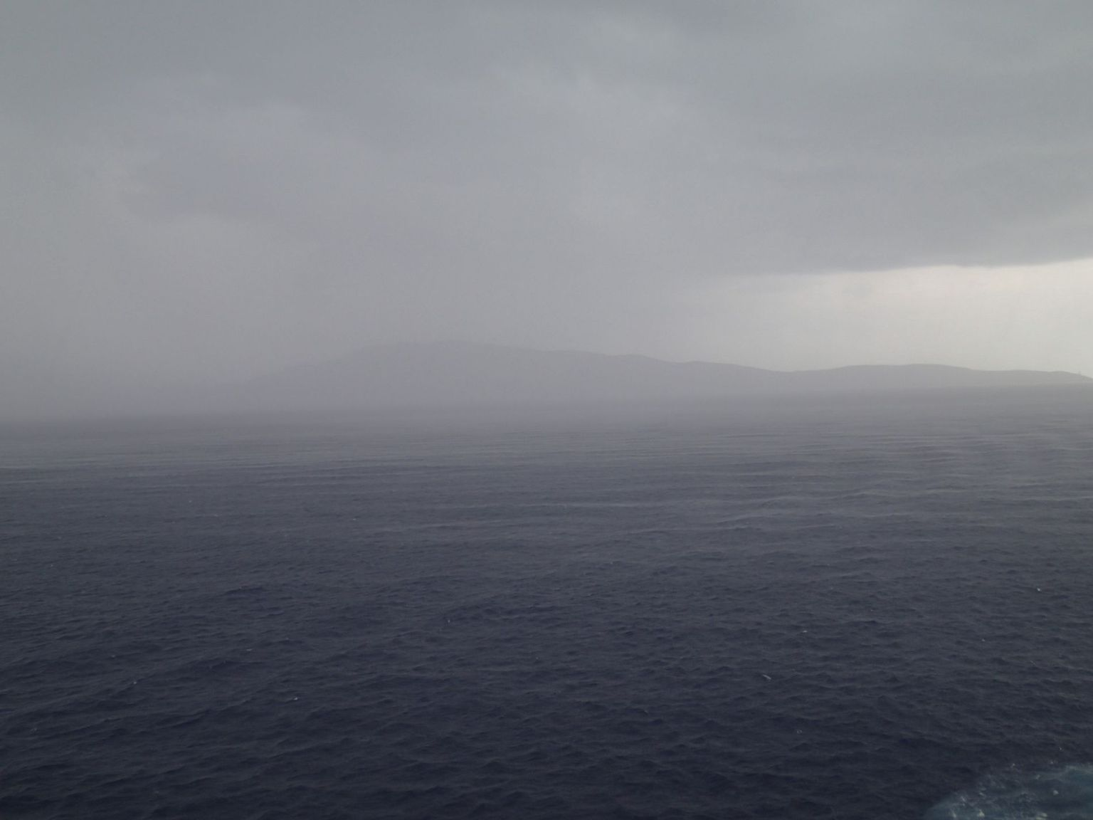 Storm over the Mediterranean Sea