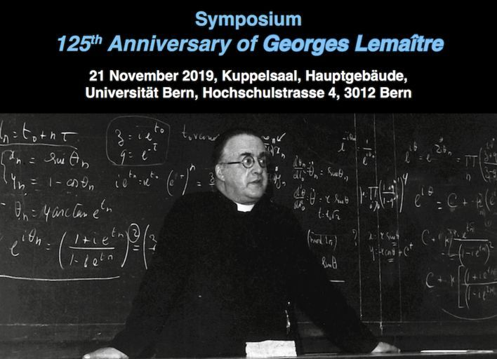 Poster for symposium on 125th Anniversary of Georges Lemaître (2019)