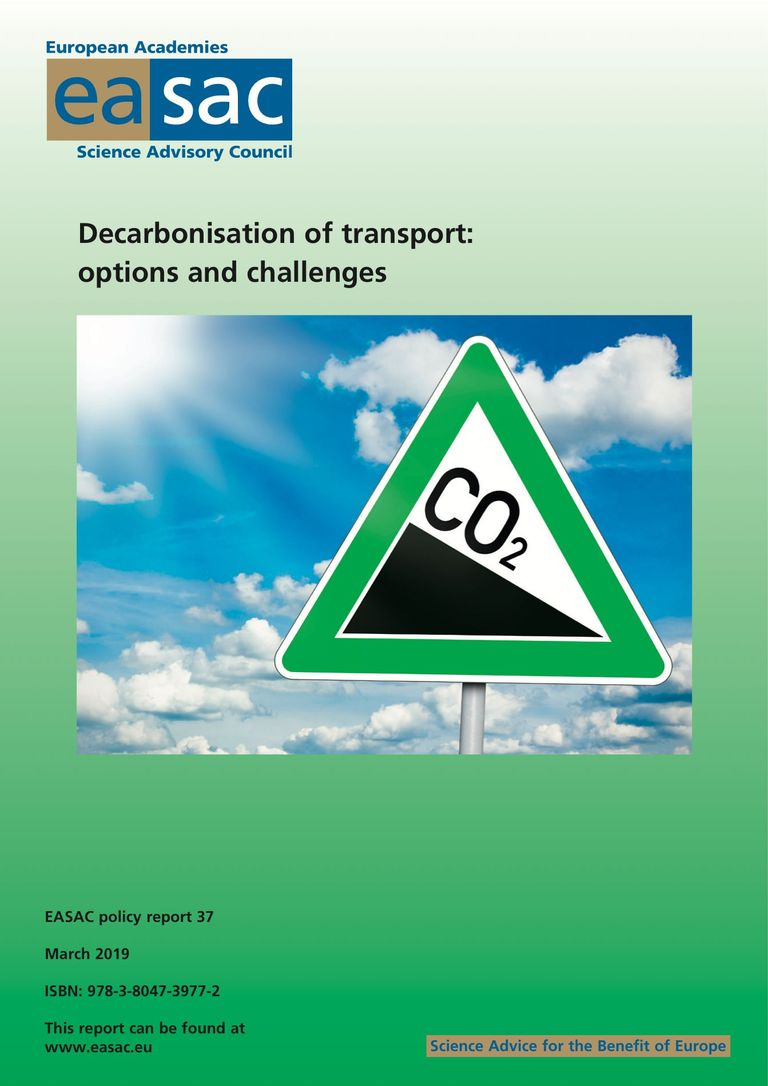 Decarbonisation of transport: options and challenges