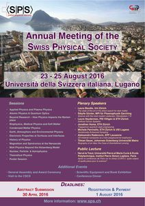 Annual Meeting 2016, 23 - 25 August 2016, Lugano, TI