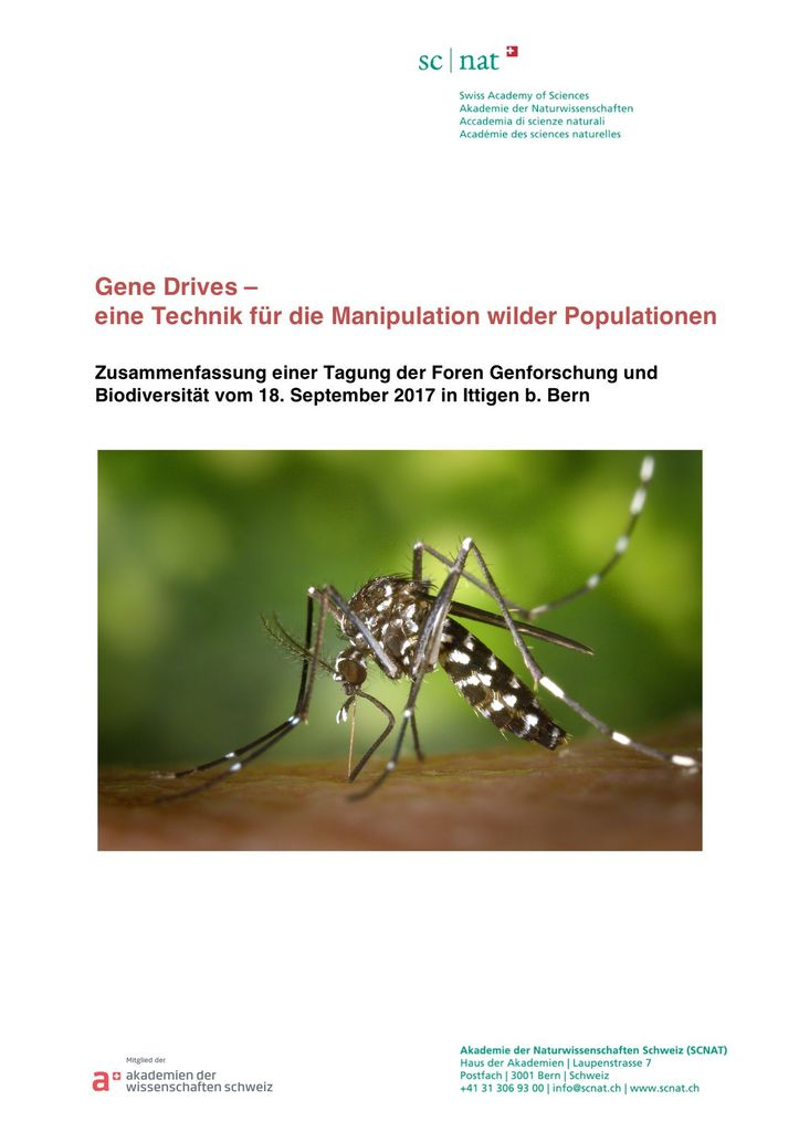 Tagungsbericht (2018) Gene Drives - eine Technik für die Manipulation wilder Populationen