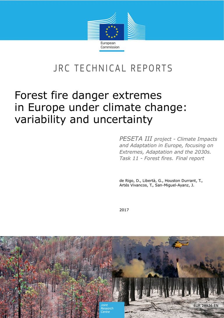 Forest Fire Danger Extremes, Publication