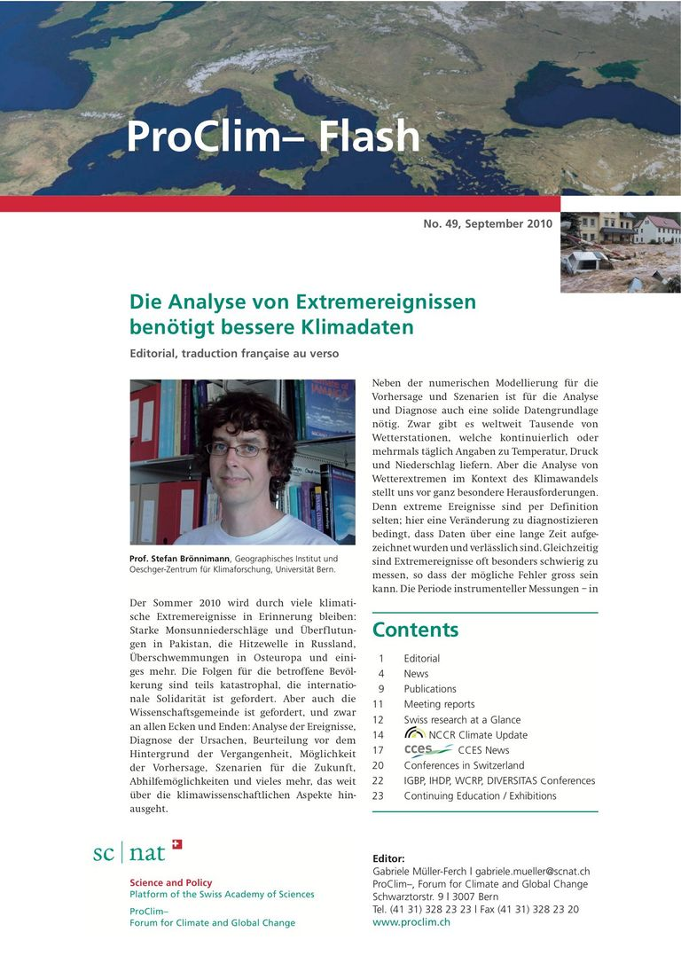 entire publication: ProClim- Flash 49 / Edito Stefan Brönnimann
