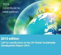 Teaser: Call for contributions on the UN Global Sustainable Development Report 2015