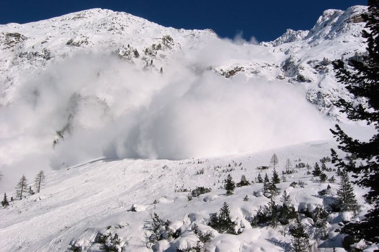 Another Avalanche coming down at Untere Sulztalalm 1900 m, near Gries in the Sulztal: Austria on 9 February 2003