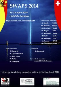 SWAPS 2014: Strategic Workshop on AstroParticle in Switzerland, 11-13 June 2014, Geneva, Switzerland