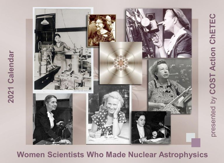Cover of 2021 Calendar of Women who made Nuclear Astrophysics