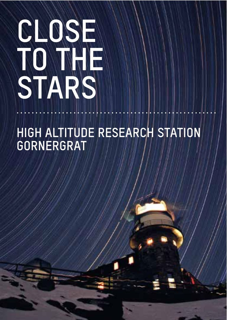 """Close to the Stars"" — Booklet about research at Gornergrat"